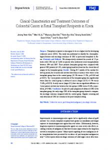 Clinical Characteristics and Treatment Outcomes