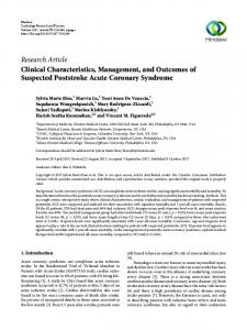 Clinical Characteristics, Management, and Outcomes of Suspected ...