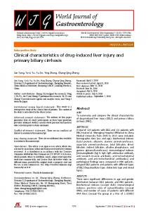 Clinical characteristics of drug-induced liver injury ... - Semantic Scholar