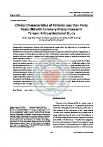 Clinical Characteristics of Patients Less than Forty Years Old with ...