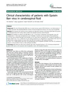 Clinical characteristics of patients with Epstein Barr virus - CiteSeerX
