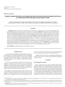 clinical characteristics, outcomes and risk factors for death among ...