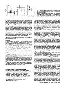 CLINICAL CHEMISTRY, or metabolite concentrations expected sera ...