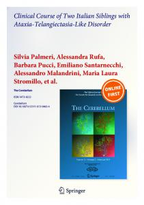 Clinical Course of Two Italian Siblings with Ataxia-Telangiectasia-Like ...