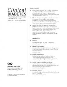 Clinical Diabetes - American Diabetes Association