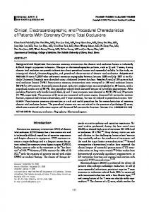 Clinical, Electrocardiographic, and Procedural Characteristics of