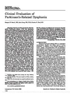 Clinical Evaluation of Parkinson's-Related ... - Wiley Online Library