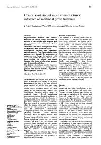 Clinical evolution of sacral stress fractures: influence of ... - Europe PMC