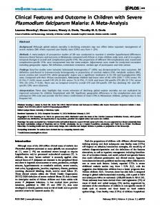 Clinical Features and Outcome in Children with ... - Semantic Scholar
