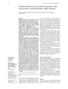 Clinical features and outcomes in patients with non ... - Europe PMC