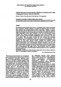 Clinical features of neuromuscular disorders in