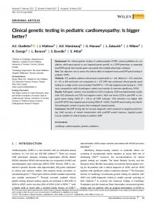 Clinical genetic testing in pediatric ... - Wiley Online Library