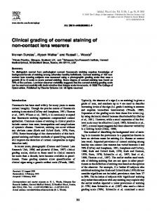 Clinical grading of corneal staining of non-contact lens ... - CiteSeerX