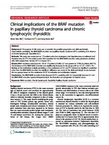 Clinical implications of the BRAF mutation in papillary thyroid ...