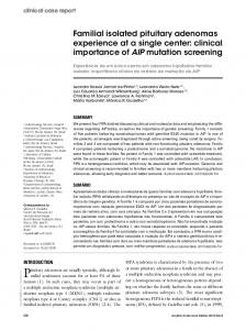 clinical importance of AIP mutation screening - Semantic Scholar