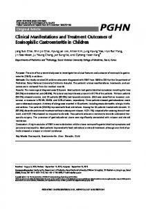 Clinical Manifestations and Treatment Outcomes of ... - CiteSeerX