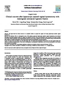 Clinical outcome after laparoscopic assisted vaginal ... - Core