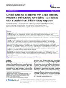 Clinical outcome in patients with acute coronary ... - BioMedSearch