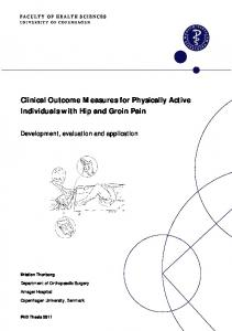 Clinical Outcome Measures for Physically Active ...