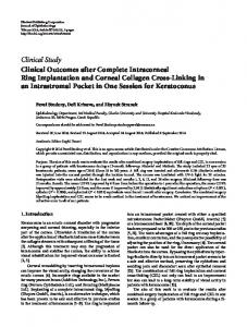 Clinical Outcomes after Complete Intracorneal Ring Implantation and ...
