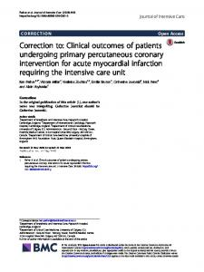 Clinical outcomes of patients undergoing primary percutaneous ...