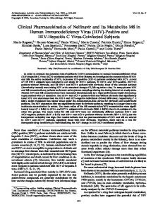 Clinical Pharmacokinetics of Nelfinavir and Its Metabolite M8 in ...
