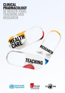 Clinical Pharmacology in Health Care, Teaching and Research