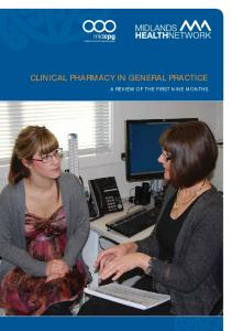 CLINICAL PHARMACY IN GENERAL PRACTICE