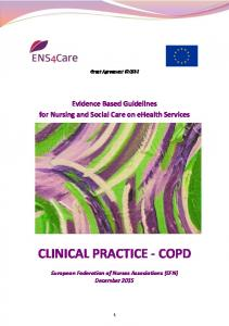 clinical practice - copd - ENS4Care
