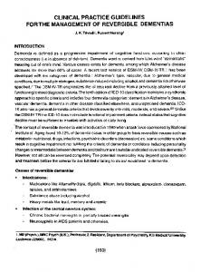 clinical practice guidelines for the management of reversible