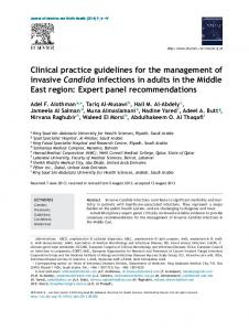 Clinical practice guidelines for the management of invasive ... - Core