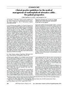 Clinical practice guidelines for the medical management of ... - Hindawi
