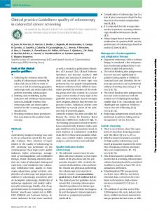 Clinical practice Guidelines: quality of colonoscopy