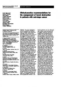 Clinical-practice recommendations for the ... - Springer Link