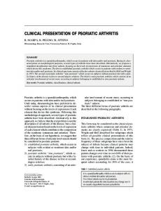 clinical presentation of psoriatic arthritis - Semantic Scholar