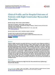 Clinical Profile and In-Hospital Outcome of Patients with Right ...