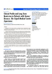 Clinical Profile and Long-Term Remission in Patients with Graves ...
