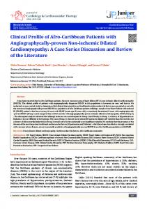 Clinical Profile of Afro-Caribbean Patients with ... - Juniper Publishers