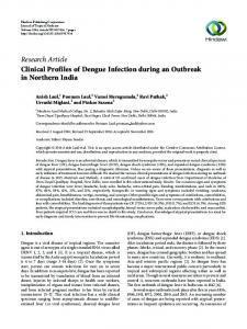 Clinical Profiles of Dengue Infection during an Outbreak in Northern ...