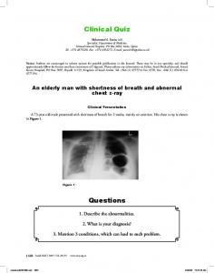Clinical Quiz Questions
