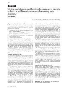 Clinical, radiological, and functional assessment in psoriatic arthritis: is ...