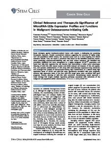 Clinical Relevance and Therapeutic ... - Wiley Online Library
