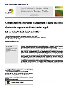 Clinical Review: Emergency management of acute poisoning