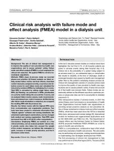 Clinical risk analysis with failure mode and effect ...