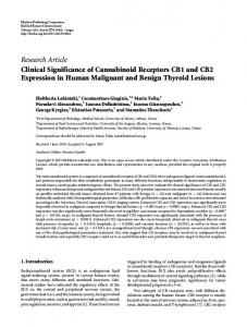 Clinical Significance of Cannabinoid Receptors CB1 and CB2 ...
