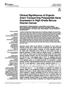 Clinical Significance of Organic Anion Transporting ...