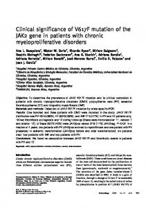 Clinical significance of V617F mutation of the JAK2 gene in patients ...