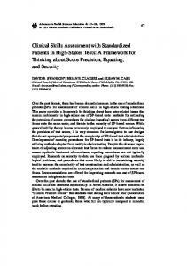 Clinical Skills Assessment with Standardized Patients ... - Springer Link