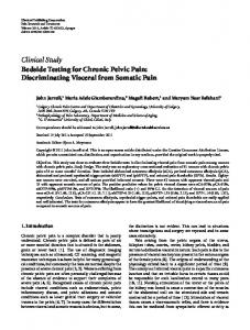 Clinical Study Bedside Testing for Chronic Pelvic Pain - BioMedSearch