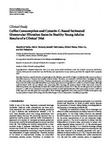 Clinical Study Coffee Consumption and Cystatin-C ... - ScienceOpen